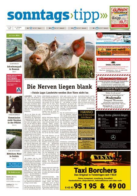 Sonntags-Tipp Syke-Weyhe-Bassum vom 17.10.2020