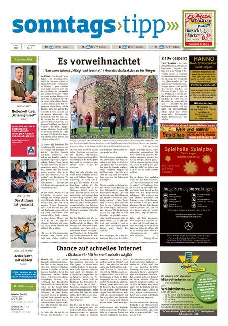 Sonntags-Tipp Syke-Weyhe-Bassum vom 07.11.2020