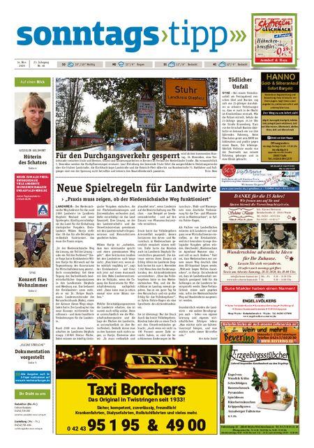 Sonntags-Tipp Syke-Weyhe-Bassum vom 14.11.2020