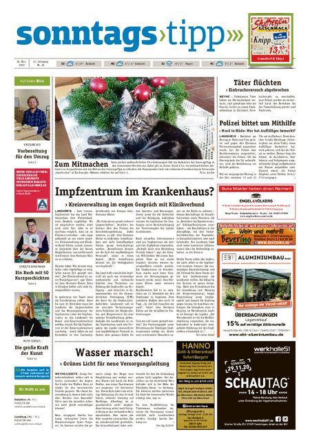 Sonntags-Tipp Syke-Weyhe-Bassum vom 28.11.2020