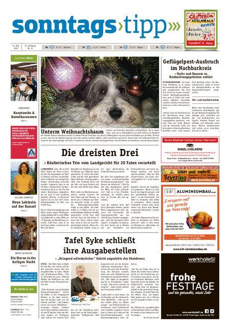 Sonntags-Tipp Syke-Weyhe-Bassum vom 24.12.2020