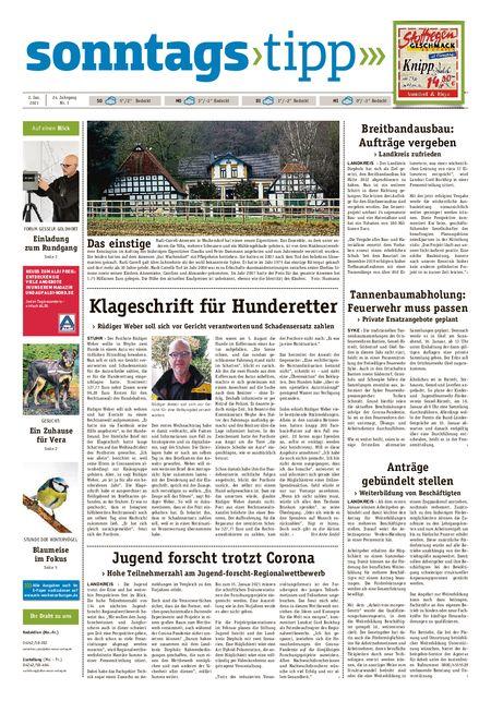 Sonntags-Tipp Syke-Weyhe-Bassum vom 02.01.2021