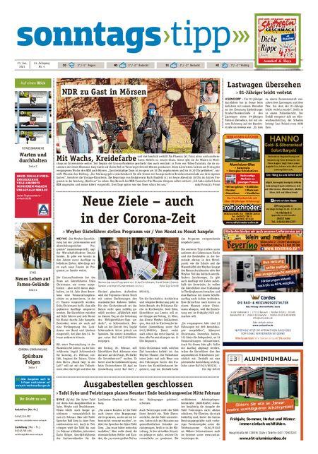Sonntags-Tipp Syke-Weyhe-Bassum vom 23.01.2021