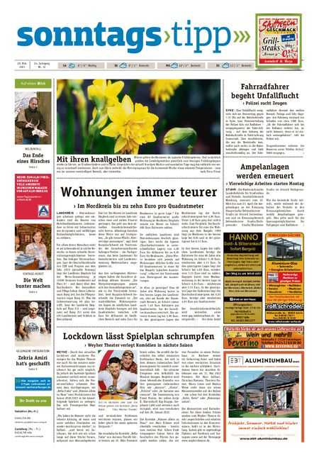 Sonntags-Tipp Syke-Weyhe-Bassum vom 20.03.2021