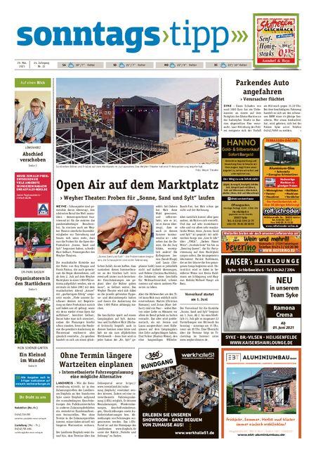 Sonntags-Tipp Syke-Weyhe-Bassum vom 29.05.2021