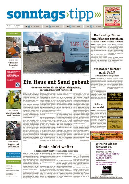 Sonntags-Tipp Syke-Weyhe-Bassum vom 05.06.2021