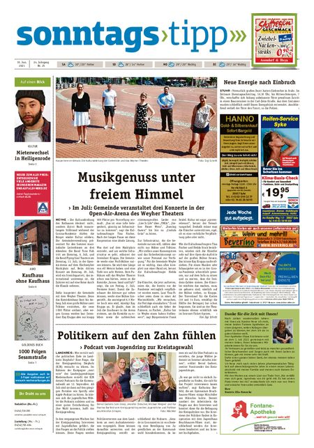 Sonntags-Tipp Syke-Weyhe-Bassum vom 19.06.2021
