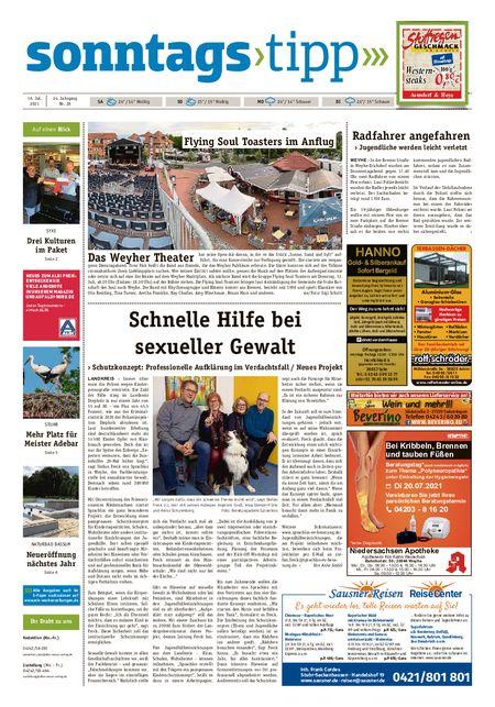 Sonntags-Tipp Syke-Weyhe-Bassum vom 10.07.2021