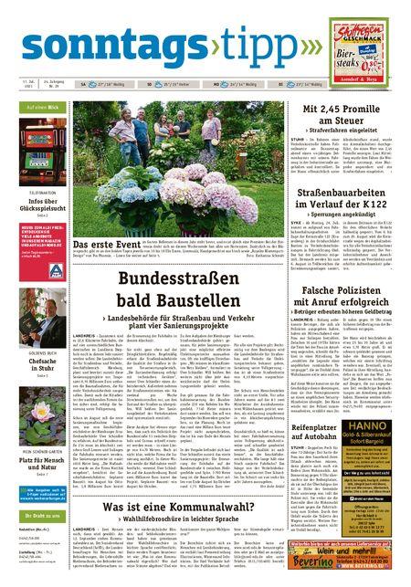 Sonntags-Tipp Syke-Weyhe-Bassum vom 17.07.2021