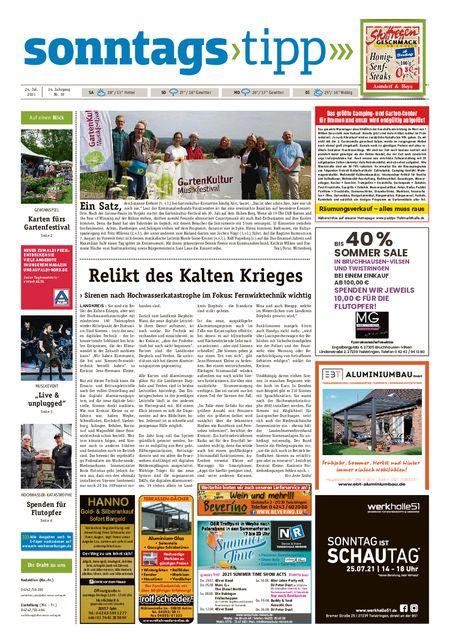 Sonntags-Tipp Syke-Weyhe-Bassum vom 24.07.2021