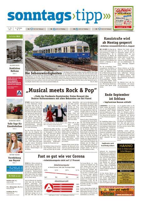 Sonntags-Tipp Syke-Weyhe-Bassum vom 31.07.2021