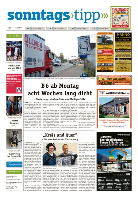 Sonntags-Tipp Syke-Weyhe-Bassum vom 04.09.2021