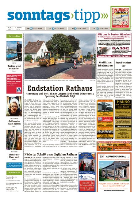 Sonntags-Tipp Syke-Weyhe-Bassum vom 18.09.2021