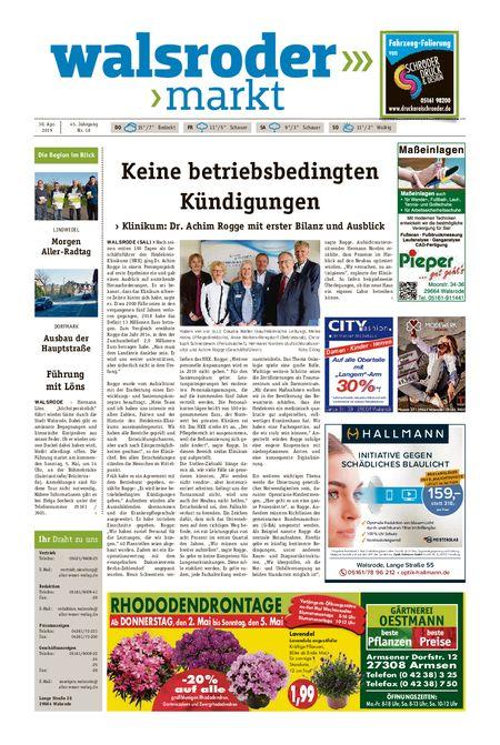 Walsroder Markt vom 30.04.2019