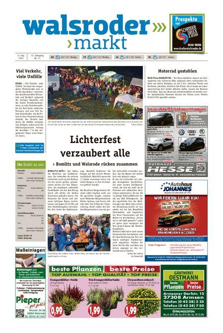Walsroder Markt vom 11.09.2019