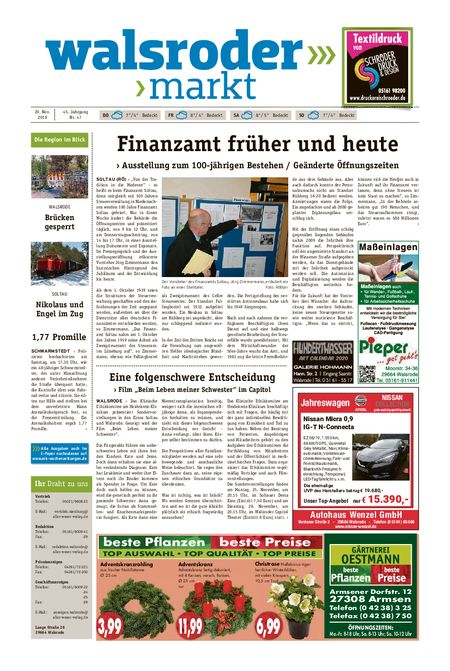 Walsroder Markt vom 20.11.2019