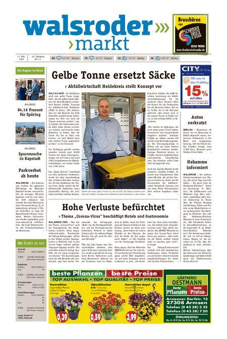 Walsroder Markt vom 11.03.2020