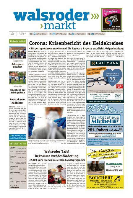 Walsroder Markt vom 02.09.2020