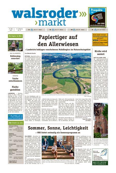 Walsroder Markt vom 29.05.2021
