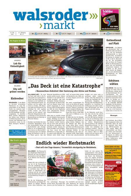 Walsroder Markt vom 16.10.2021