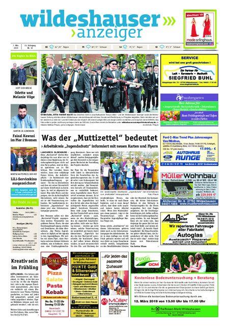 Wildeshauser Anzeiger vom 07.03.2019