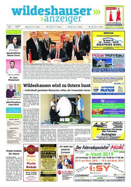 Wildeshauser Anzeiger vom 21.03.2019