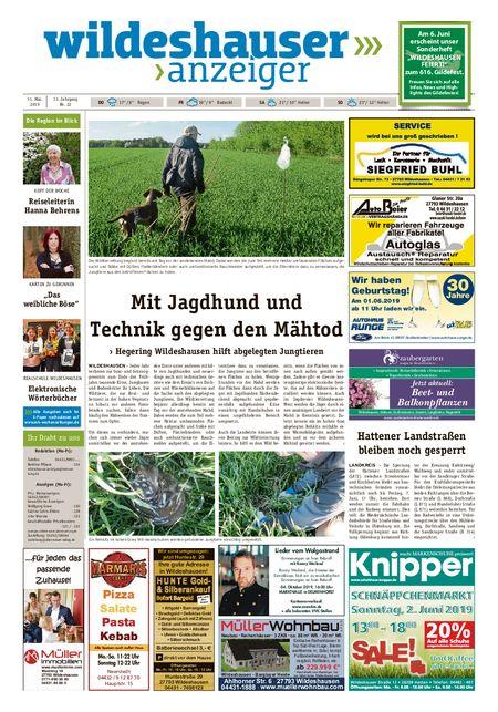 Wildeshauser Anzeiger vom 31.05.2019