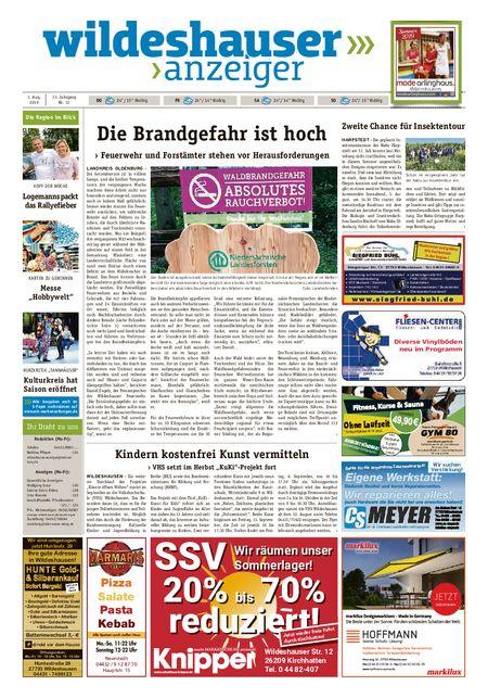 Wildeshauser Anzeiger vom 01.08.2019