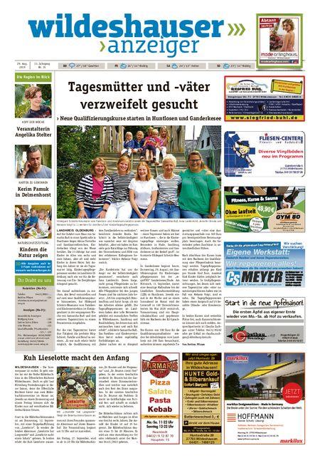 Wildeshauser Anzeiger vom 29.08.2019