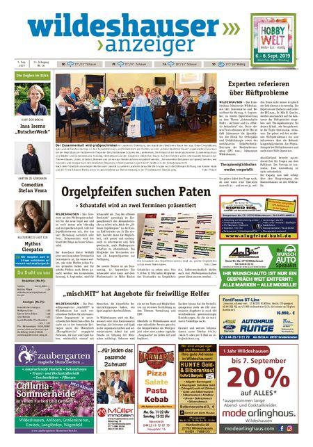 Wildeshauser Anzeiger vom 05.09.2019