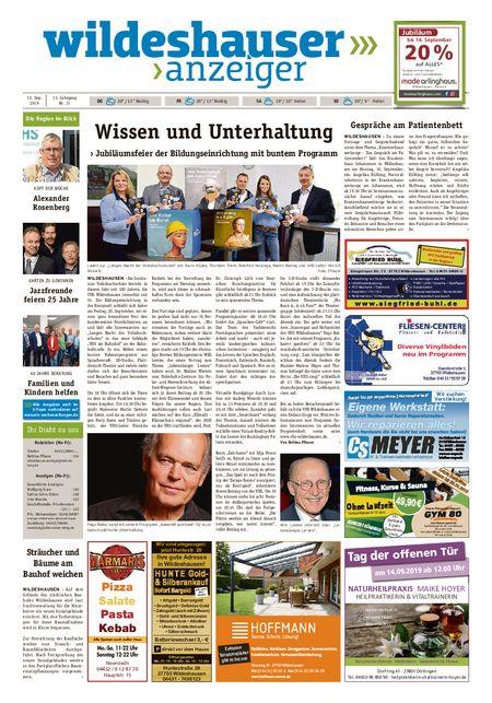 Wildeshauser Anzeiger vom 12.09.2019