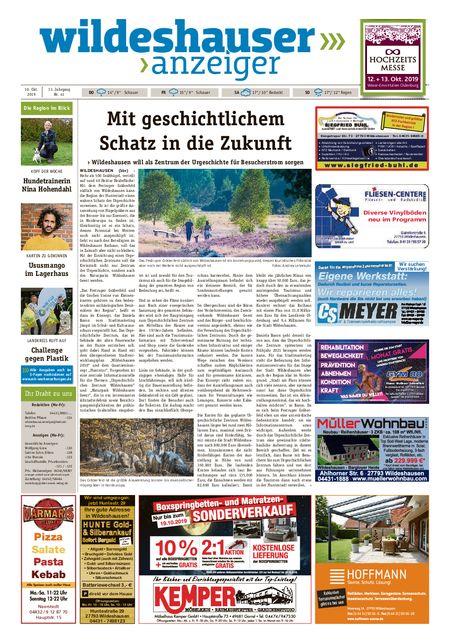 Wildeshauser Anzeiger vom 10.10.2019