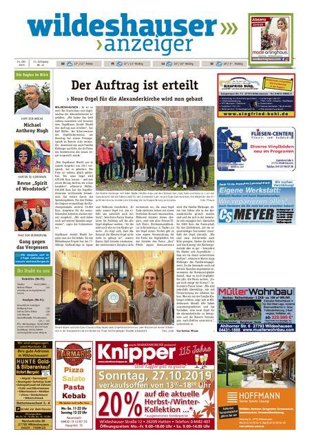 Wildeshauser Anzeiger vom 24.10.2019