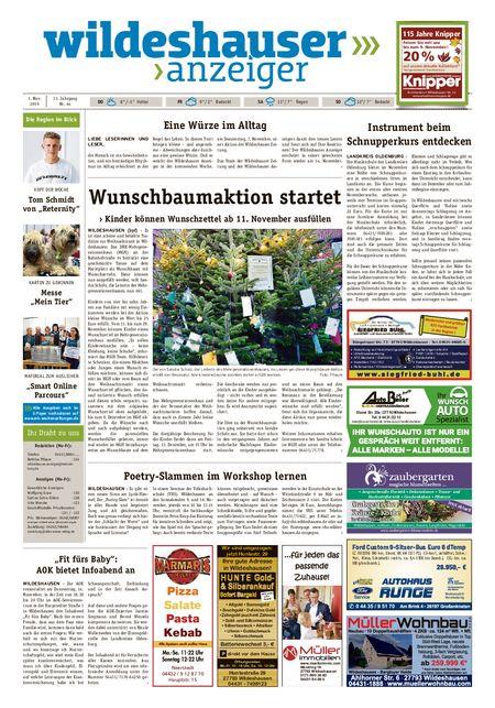 Wildeshauser Anzeiger vom 01.11.2019
