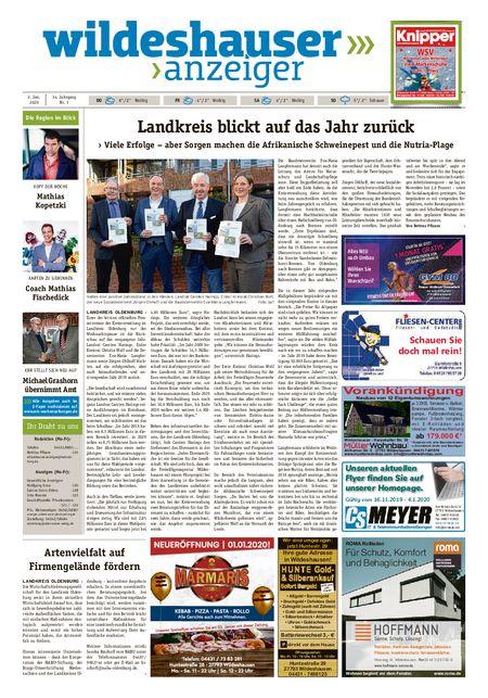 Wildeshauser Anzeiger vom 02.01.2020