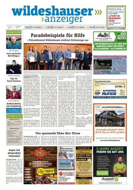 Wildeshauser Anzeiger vom 23.01.2020