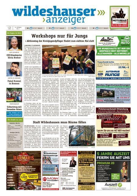 Wildeshauser Anzeiger vom 06.02.2020