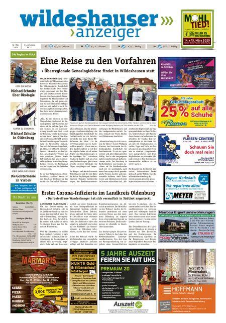 Wildeshauser Anzeiger vom 12.03.2020