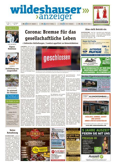 Wildeshauser Anzeiger vom 19.03.2020