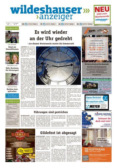 Wildeshauser Anzeiger vom 26.03.2020
