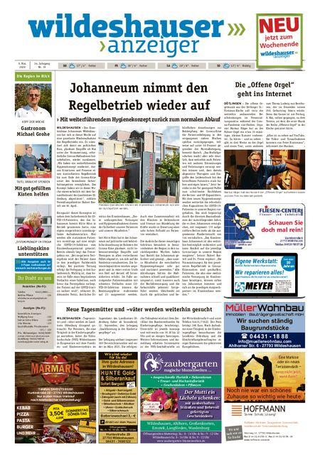 Wildeshauser Anzeiger vom 07.05.2020