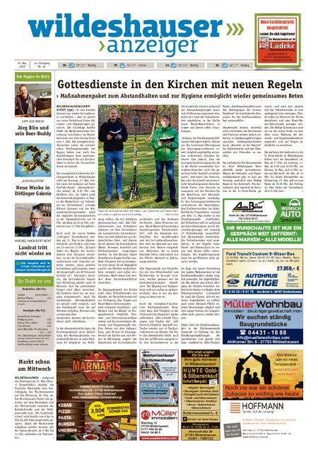 Wildeshauser Anzeiger vom 14.05.2020