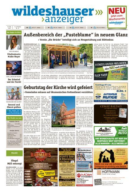 Wildeshauser Anzeiger vom 28.05.2020