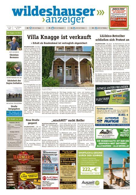 Wildeshauser Anzeiger vom 11.06.2020
