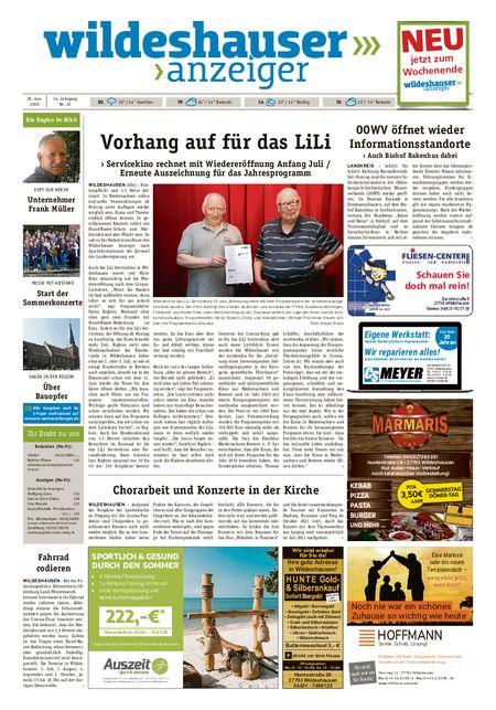 Wildeshauser Anzeiger vom 18.06.2020