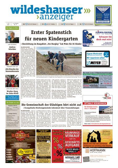 Wildeshauser Anzeiger vom 02.07.2020