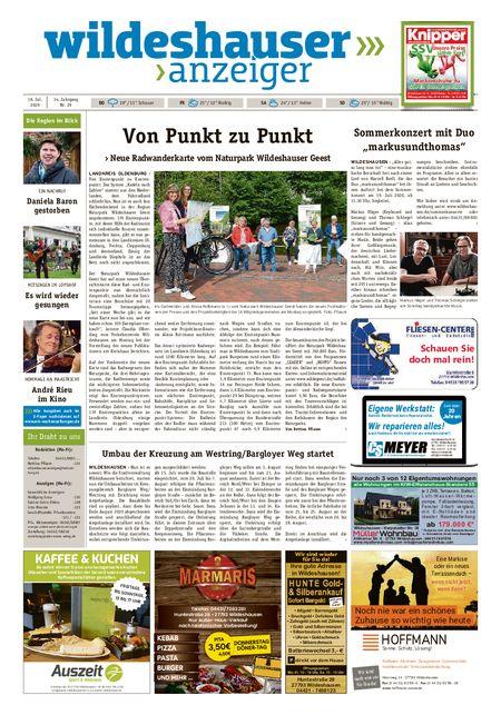 Wildeshauser Anzeiger vom 16.07.2020