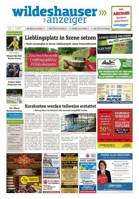 Wildeshauser Anzeiger vom 23.07.2020
