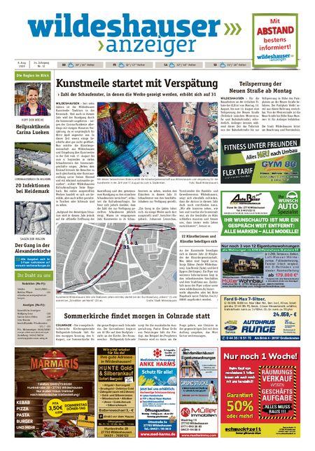 Wildeshauser Anzeiger vom 06.08.2020