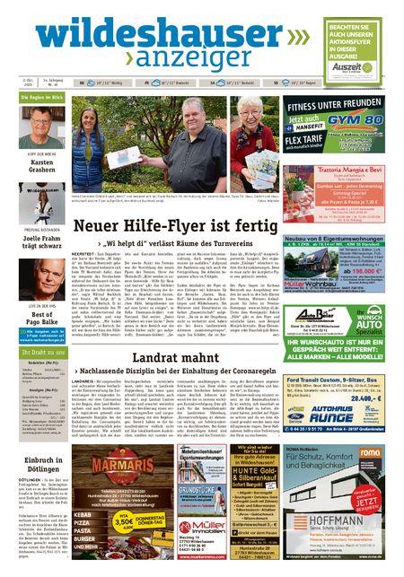 Wildeshauser Anzeiger vom 01.10.2020